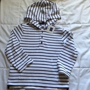 Janie and Jack Striped Hooded Pullover